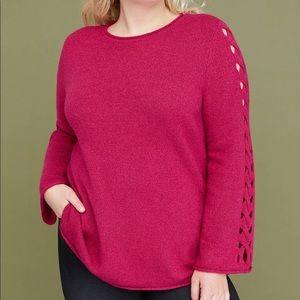 Lane Bryant Lattice Sleeve Sweater.  Size 18/20